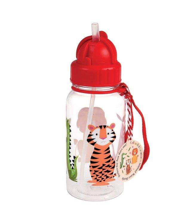 Rex London Drinkfles met rietje 500ml Colourful Creatures