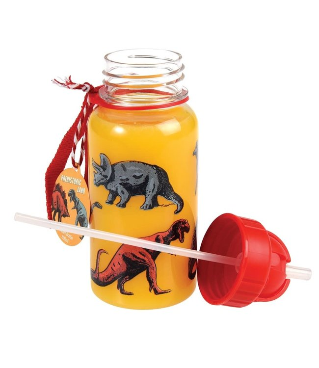 Rex London Drinkfles met rietje 500ml Prehistoric Land