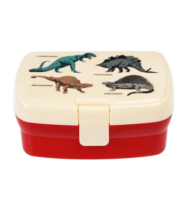 Rex London Lunchbox met uitneembaar blad met vakjes Prehistoric Land