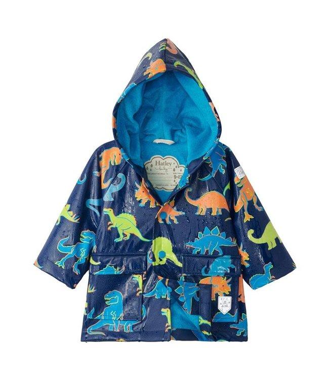 Hatley Hatley Kids Regenjas Linework Dino's - Colour Changing
