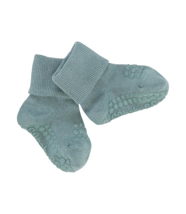 Go baby go Bamboe Sokken met anti-slip Dusty Blue
