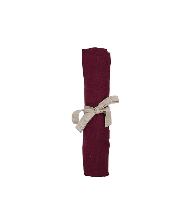 Les reves d'anais Filibabba Hydrofieldoek 65x65 cm Deeply Red