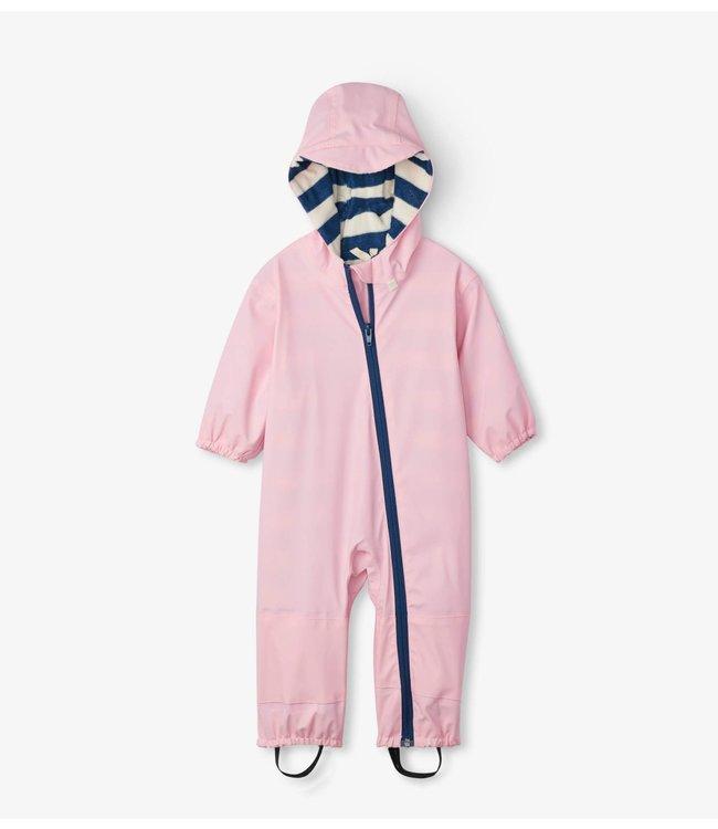 Hatley Hatley Regenpak - Pink met badstof gevoerd
