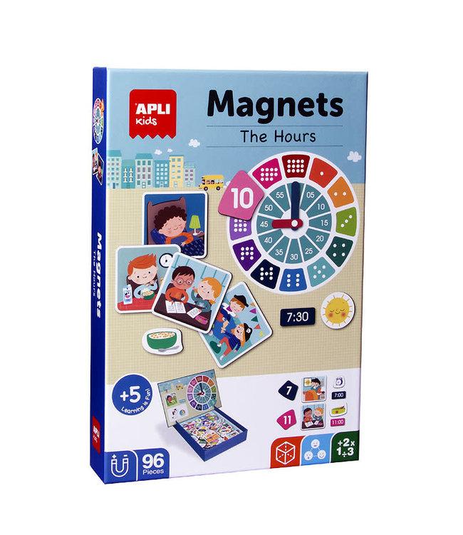 Apli Klok Kijken Magneetkaart - 96 Delig