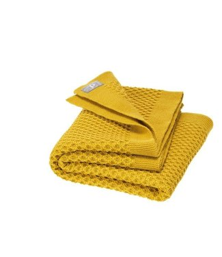 Disana Babydeken Honeycomb GOTS Wol Curry 100x80 cm