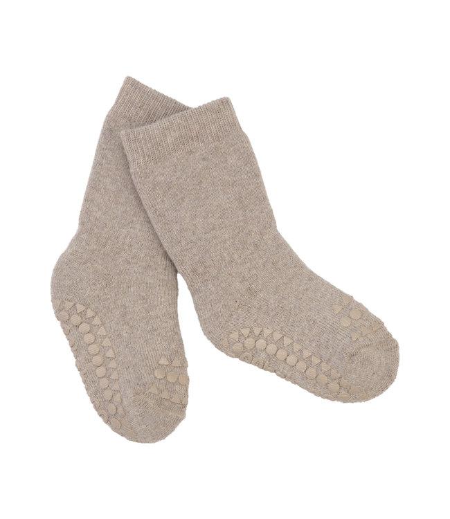 Go baby go Anti- slip sokken Sand Melange - Oekotex