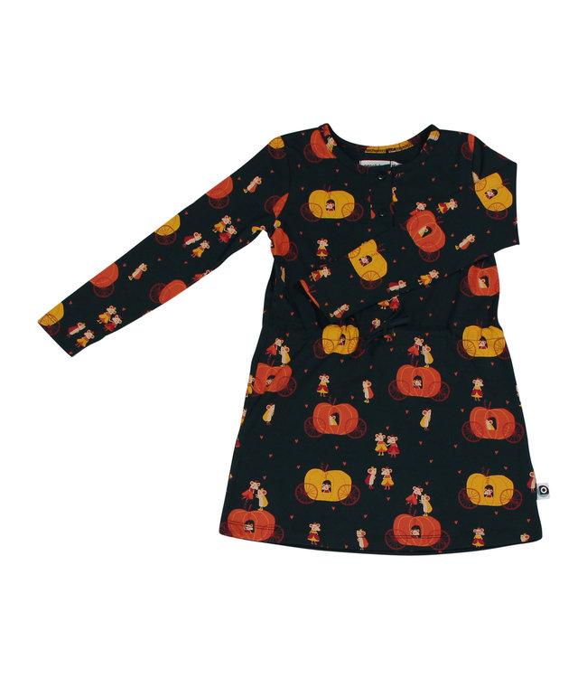 Onnolulu Jurkje Kids GOTS Jersey Katoen Floor Pumpkin