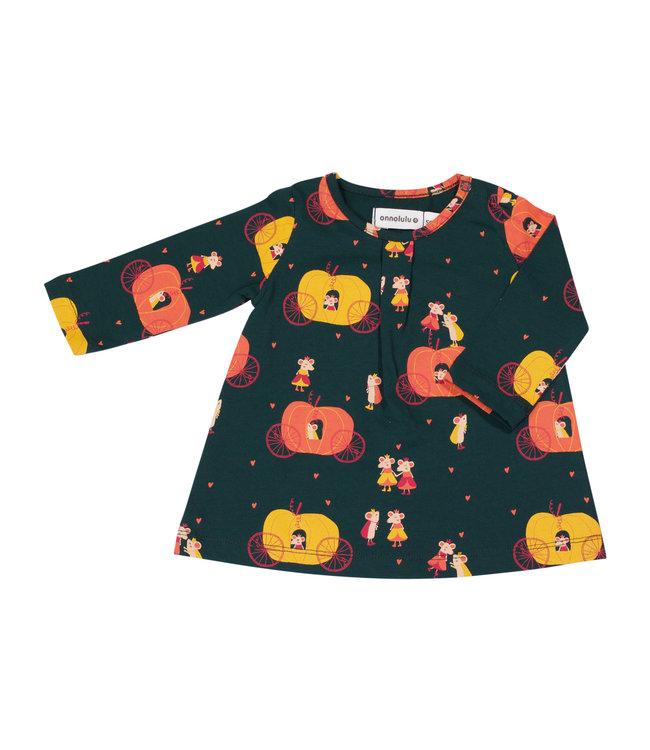 Onnolulu Jurkje Baby GOTS Jersey Katoen Rosana Pumpkin