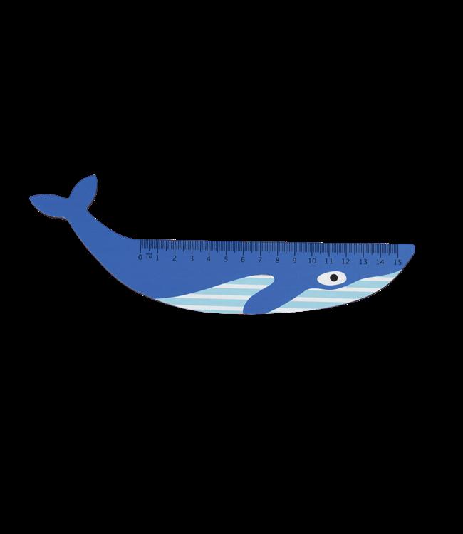 Rex London Houten Liniaal Blue Whale