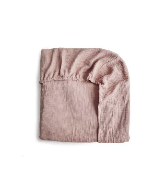 Mushie Mushie Crib Sheet Blush - Hoeslaken