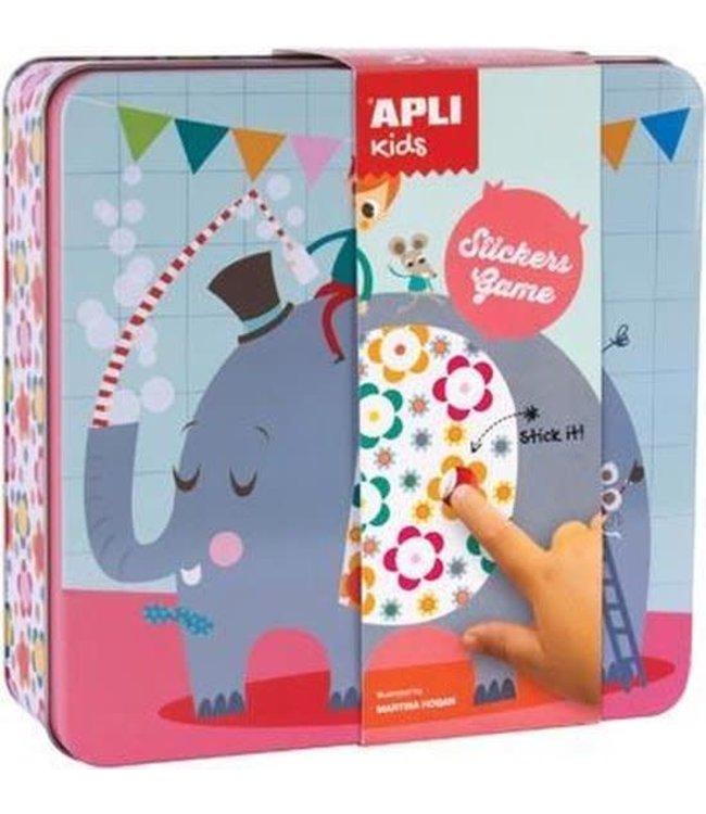 Apli Apli Olifant Sticker Spel in Blik