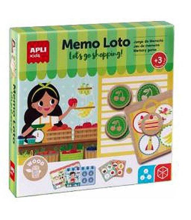 Apli Memo Lotto Spel  +3jaar - Let's Go Shopping