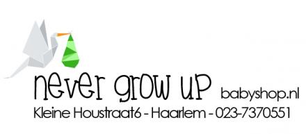Never grow up Babyshop - De babywinkel speciaalzaak in Haarlem, ook online.