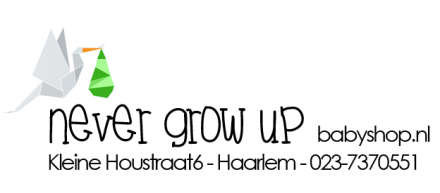 Never grow  up Babyshop