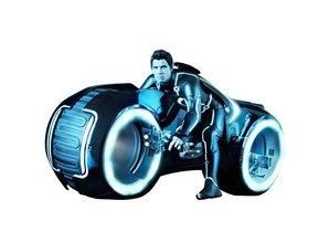 Hot Toys TRON Legacy Sam Flynn w/ Lightcycle