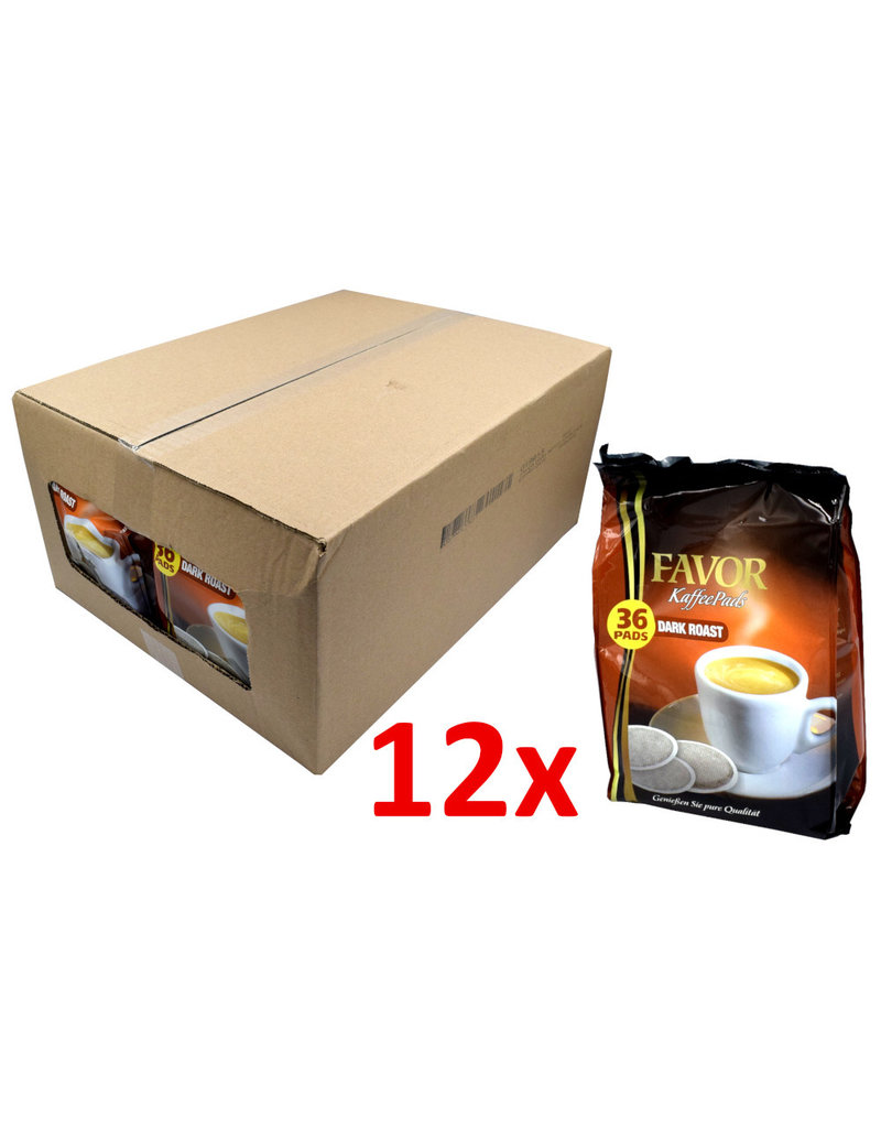 Favor Dark Roast 36 Pads - Box