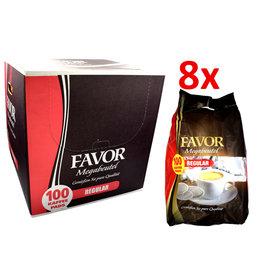 Favor Megabeutel Normale Rostung 100 Kaffeepads - Karton
