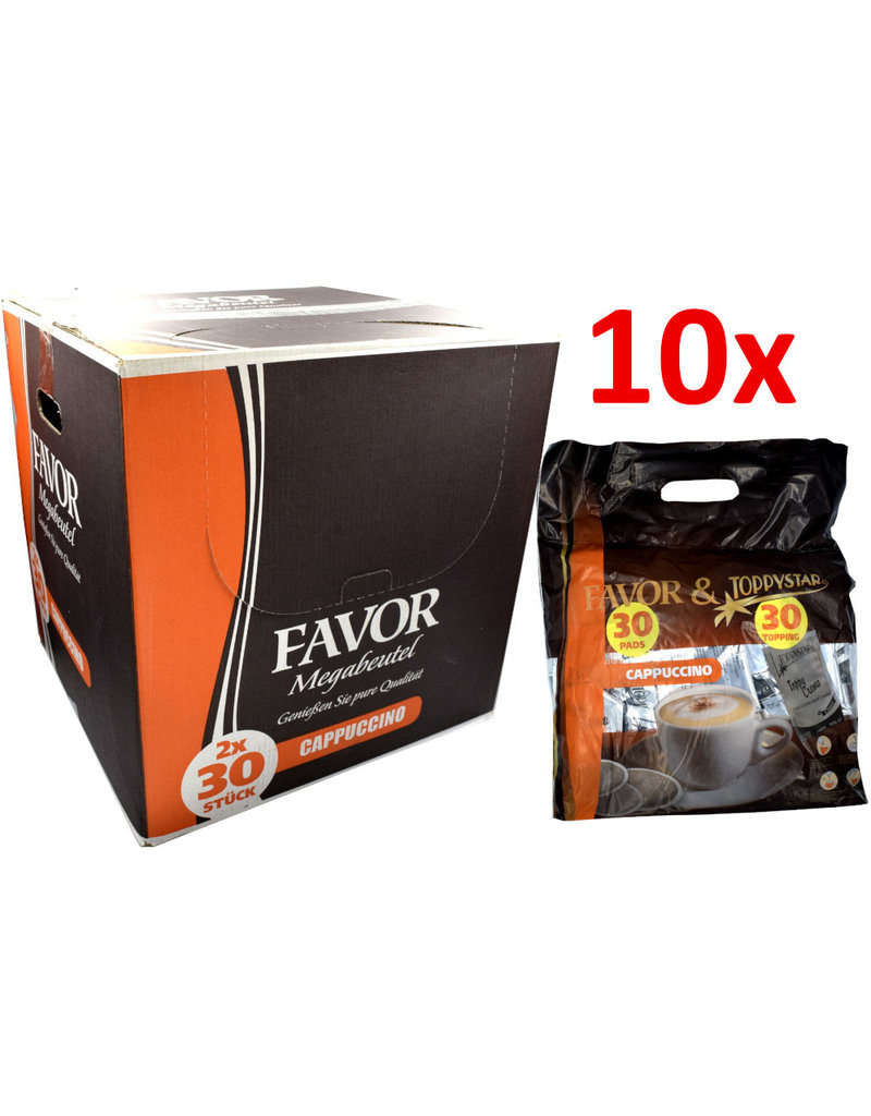 Favor Megazak Cappuccino Koffiepads (pad + topping) - Doos