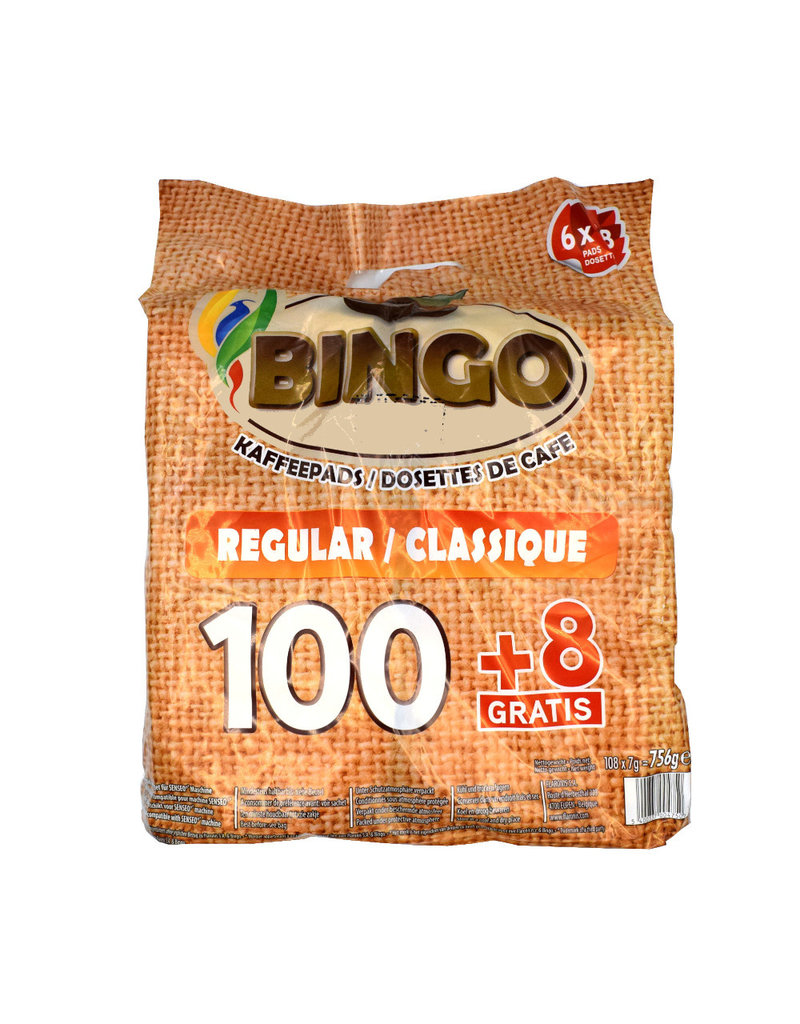 Bingo Bingo Koffiepads Regular - 108 pads - Doos