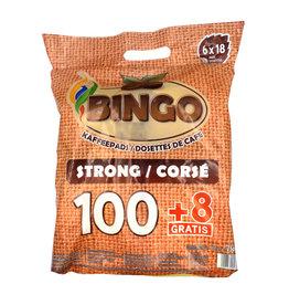 Bingo Bingo Koffiepads Strong voordeelverpakking 108 Pads