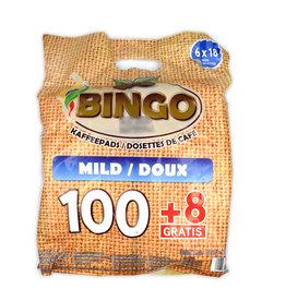 Bingo Bingo Kaffeepads Milde Röstung vorteilpackung 108 pads