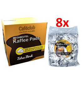 Cafeclub Cafeclub Kaffeepads Supercreme Megabeutel Extra Dark - Karton