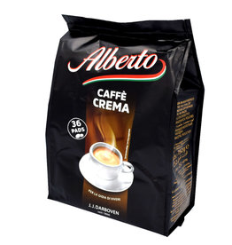 J.J. Darboven Kaffee Alberto Caffe Crema 36 Koffiepads
