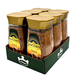 Jacobs Jacobs Gold löslicher Kaffee 200gr Glas - 6 Pack