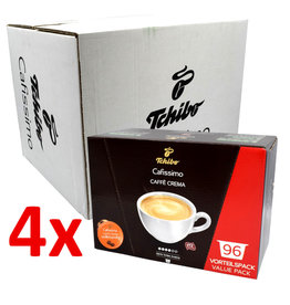 Tchibo Tchibo Cafissimo Caffé Crema Vollmundig benefit package (coffee capsules for Cafissimo) - 4 Pack