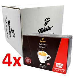 Tchibo Tchibo Cafissimo Espresso Strong benefit package (coffee capsules for Cafissimo) - 4 Pack