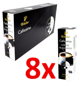 Tchibo Tchibo Cafissimo for Black 'n White (Coffee capsules for Cafissimo) - 8 Pack