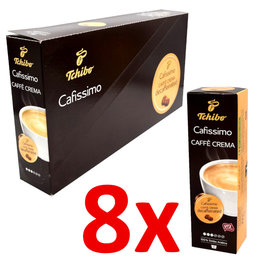 Tchibo Tchibo Caffe Crema Decaffeinated (Coffee capsules for Cafissimo) - 8 Pack