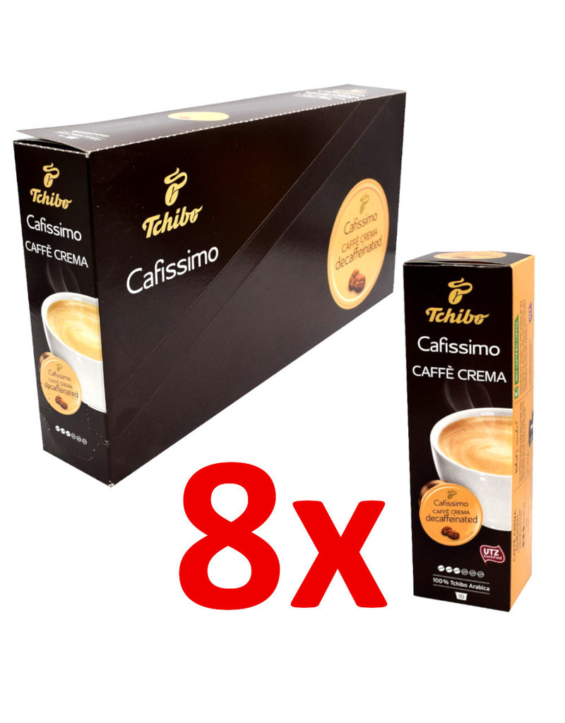 Tchibo Tchibo Caffe Crema Decaffeinated (Koffiekapsules voor Cafissimo) - 8 Pack