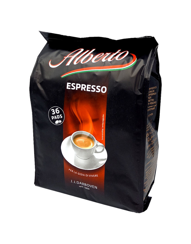 J.J. Darboven Kaffee Alberto Espresso 36 Koffiepads