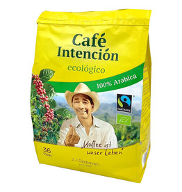J.J. Darboven Kaffee Café Intención ecológico 36 Coffee Pods