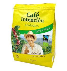 J.J. Darboven Kaffee Café Intención ecológico 36 Kaffeepads
