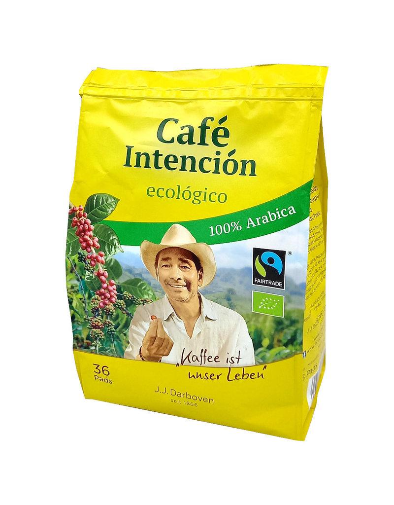 J.J. Darboven Kaffee Café Intención ecológico 36 Koffiepads (BIO pads)