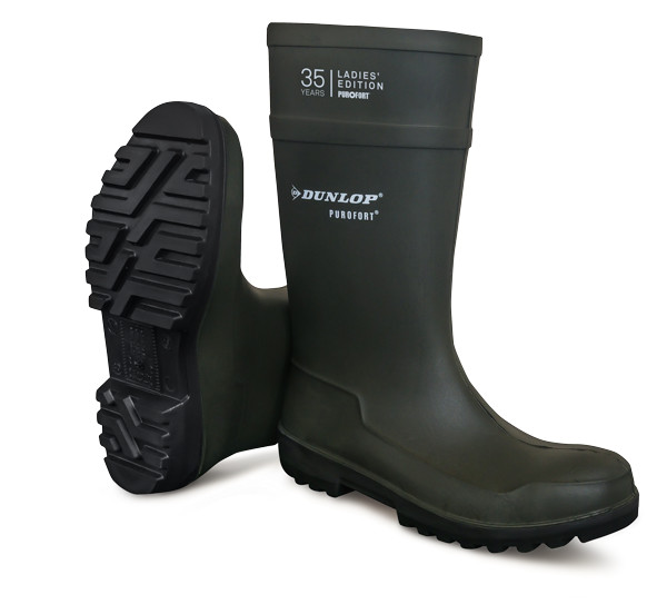 Dunlop Dames knielaars - C562933 Purofort S5 groen