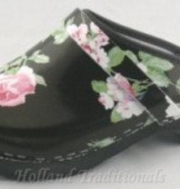 Htd Klompen zwart bloem