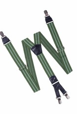 Hendrik Bretels Groen met  dubble Licht Groene streep
