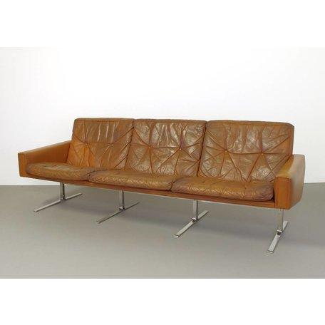 Vintage Poul NÌürreklit sofa leather 60s Denmark                       .