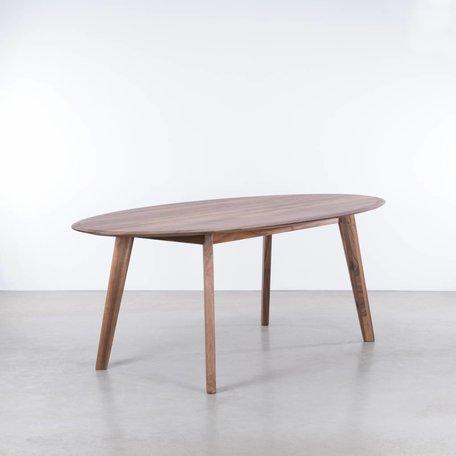 Samt Oval Tablel Walnut