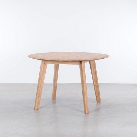 Samt ronde tafel Eiken