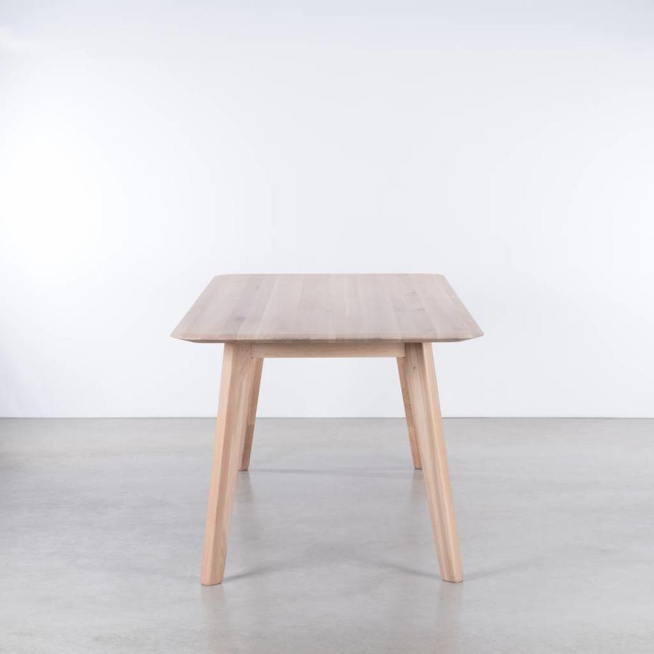 Vierkante Eettafel 90x90.Samt Tafel Eiken Whitewash