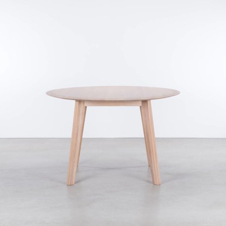 Samt round table Oak Whitewash