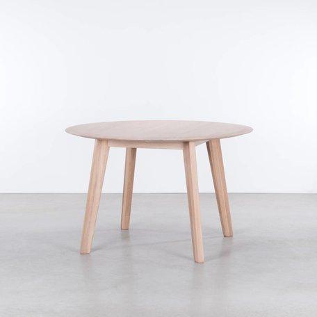 Samt Round Table Oak Whitewash