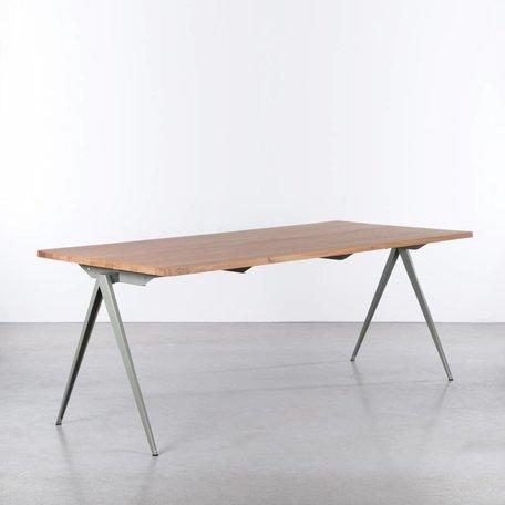 TD4 Table Cement Gray / Oak