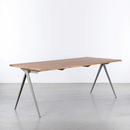 TD4 Table Cement Grey / Oak