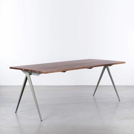 TD4 Table Cement Gray - Walnut