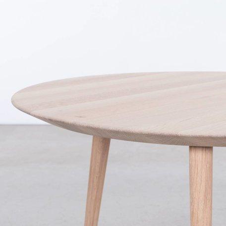 Tomrer Coffee table Round Oak whitewash - 3 leg